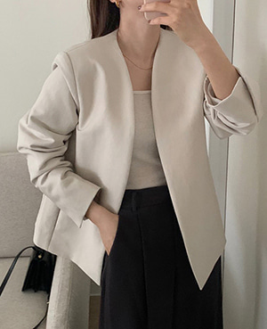 no-collar jacket (2color)