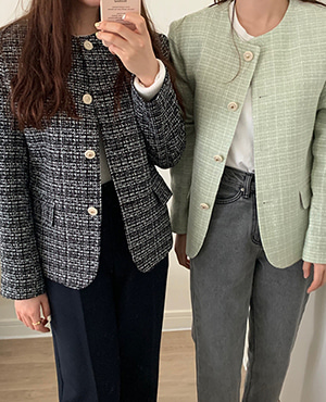 seed tweed jacket (2color)