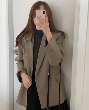 one button jacket (3color) 재진행