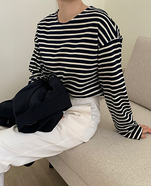 plain stripe t (4color)