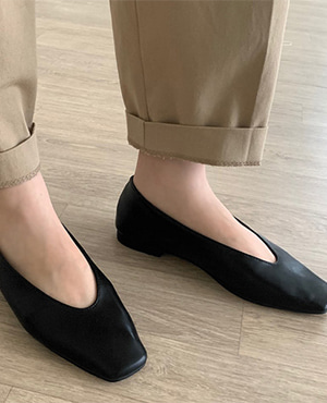 square flat shoes (4color)
